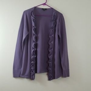 AGB Open Cardigan Purple & Lace Sweater XL